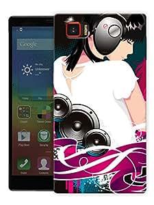 "Girl Headphones Music Printed Designer Mobile Back Cover For ""Lenovo Vibe Z2 Pro K920"" By Humor Gang (3D, Matte Finish, Premium Quality, Protective Snap On Slim Hard Phone Case, Multi Color)"