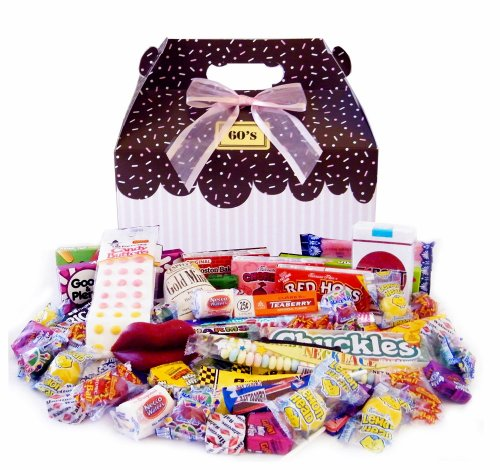 1960's Sprinkled Pink Retro Candy Gift Box