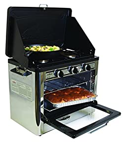 Camp Chef Camping Outdoor Oven with 2 Burner Camping Stove
