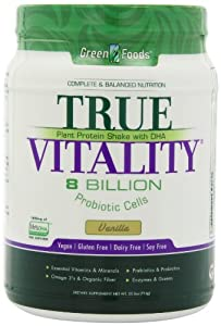 Green Foods True Vitality, Vanilla, 25.2 Ounce
