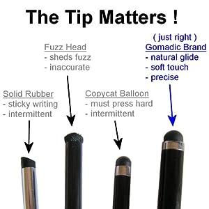 Gomadic kapazitiver Stift mit Präzisionsspitze für Apple iPhone 4 (in Schwarz)