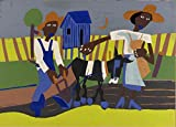 POSTER Sowing Artist William H Johnson born Florence SC 1901 died Central Islip NY 1970 Graphic Arts Print ca 1940 1942 Topic Figure group Figure s exterior arm EthnicAfrican American Animaldonkey Occupation armsowing