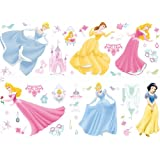 Decofun, Disney Princess Wall Sticker Stikaroundsby Leisurebrands