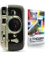 CaseiLike ® caméra Retro Vintage Style, Snap-on dur retour housse pour Samsung Galaxy S3 mini i8190 avec protecteur d'écran