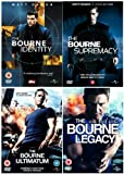 The Complete Jason Bourne Movie 1 - 4 DVD Collection: Bourne Identity / Bourne Supremacy / Bourne Ultimatum / Bourne Legacy