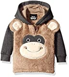 Boys Rock Baby Plush Character Hoodies, Tan, 12 Months