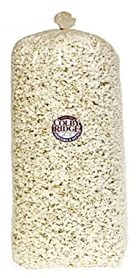 Gourmet White Popcorn 80 oz. Bash Bag Bulk 180 Cups by Colby Ridge Popcorn