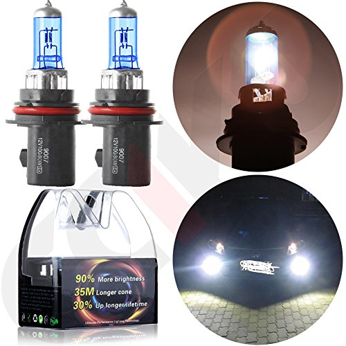 CCIYU 9007-HB5 5900K Super White Xenon HID Halogen Headlight Bulb 80/100W 12V (Pack of 2pcs) (9007 High Low Led Headlight Bulb compare prices)