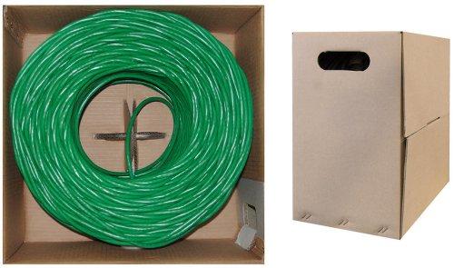C&E 1000 feet CAT 5E 24AWG 4PR Solid UTP Ethernet Cable Green