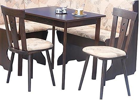 gunstige Essgruppe bestehend aus Kuchentisch ausziehbar und 2 Stuhlen wengefarbig - 2542