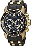 Invicta Men's 6981 Pro Diver Analog Swiss Chronograph Black Polyurethane Watch