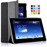 IVSO Slim Smart Cover Case for ASUS MeMO Pad FHD 10 ME302C Tablet with Auto Sleep/Wake Function (Black)