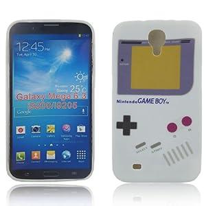 Samsung Galaxy Mega 6.3 i9200 i9205 TPU GAMEBOY Retro Design Schutz Handy Hülle Case Tasche Etui Bumper thematys®