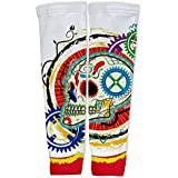ScudoPro Elegant Skull Compression Arm Sleeves UV Protection Unisex - Walking - Cycling - Running - Golf - Baseball...