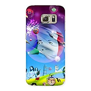 Delighted Wonder World Multicolor Back Case Cover for Samsung Galaxy S6 Edge