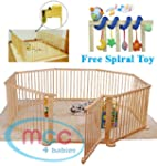 Large Heavy Duty Wooden Baby Playpen...