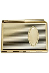 Gold-plated or Silver-plated Business Card & Note Holder - Engravable Gift Item
