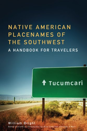Native American Placenames Of The Southwest: A Handbook For Travelers front-520856
