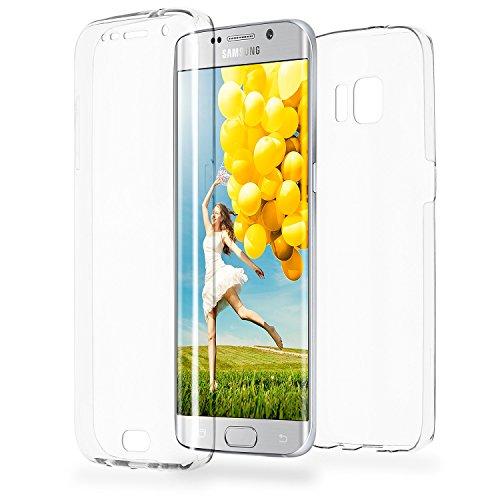 Doppia cassa come nome del Samsung Galaxy S6 Edge | Trasparente Custodia in silicone copre l'intero | Thin 360° completa casi di smartphone per OneFlow | Quarta di copertina in Incolore