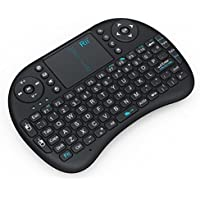Rii® MWK08 i8 Mini 2.4GHz Wireless Touchpad Keyboard with Mouse for PC/PAD/360XBox/PS3/Google Android TV Box/HTPC/IPTV (2.4G Black)