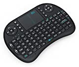 Rii 10038-AOK i8 Mini 2.4GHz Wireless Touchpad Keyboard for PC/Pad/Xbox 360/PS3/Google Android TV (Black)