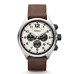 Fossil Herren-Armbanduhr XL Chronograph Leder CH2835