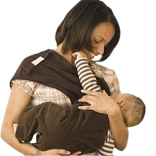 Baby Bond Flex Nursing Sash with Removable Burpcloth, Chocolate, X-Smalll/Small
