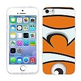 Head Case Designs Orange Clown Colourful Fish Soft Gel Back Case Cover for Apple iPhone 5 5s