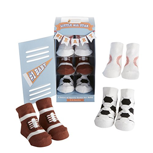 Baby Aspen, Little All Star 3 Pair Of Socks Gift Set, 0-6 Months