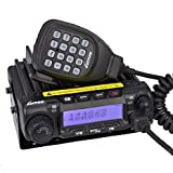 LUITON LT-588UV 60watts VHF 45watts UHF Mobile Transceiver with Free Programming Cable Dual Band Dual Standby Car Radio (Black)