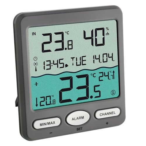 Tfa dostmann poolthermometer venice zur - Thermometre de piscine digital ...