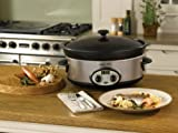 CROCK POT 5.7L COUNTDOWN COOKER STAINLESS STEEL BLACK SCV1600-1UK