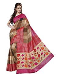 Divyaemporio Women Cotton Silk Self Print With Blouse Piece Sarees (V-13339 _Multi-Coloured _Free Size)