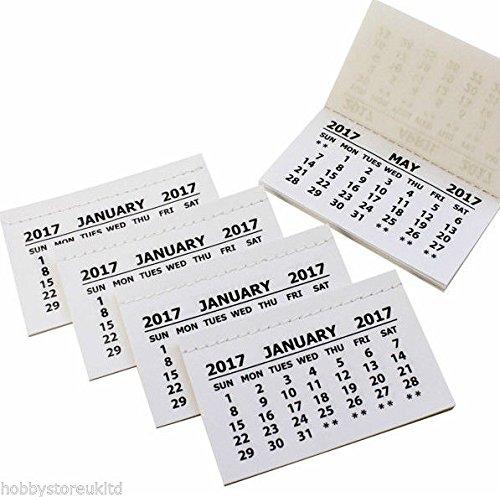 2016Kalender Taben Einsatz Taben weiß Mini Kalender Abreißen Pads Monat zu View Craft