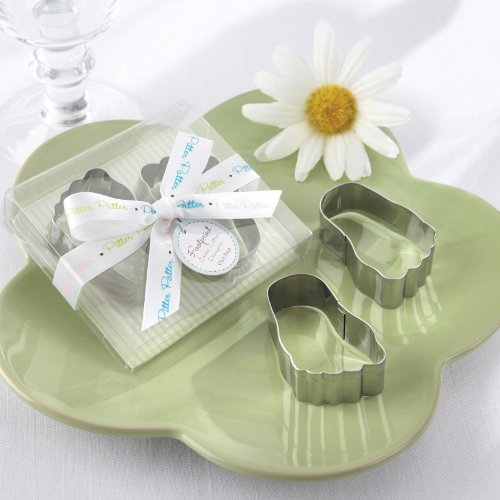 Pitter-Patter of Little Feet Stainless-Steel Baby Footprint Cookie Cutters