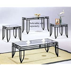 Cheap Coffee Table Sets Matrix 3pc Coffee End Table Set In Black