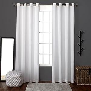 ATI Home Loha Linen Grommet Top Window Curtain 96-inch Length Panel Pair