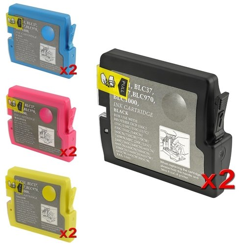 eForCity Replacement Compatible Ink Set for Brother LC51 (Double Pack)