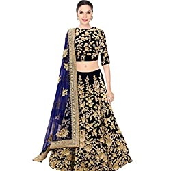 Fabron navy blue designer dori work lehenga choli for women.