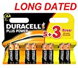 8x DURACELL Plus Power MN1500 AA Batteries Long-Dated (Total Qty=8)