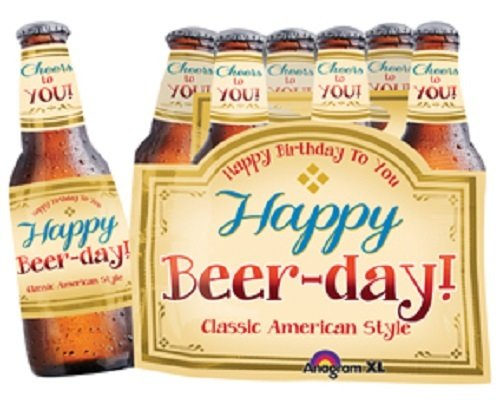 Anagram International Happy Beer-Day Balloon (6 Pack), 25