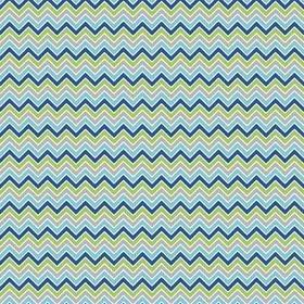 Multi Boy Chevron Stripe Alpine Flannel Fabric by the yard F610-51 blue green gray aqua Alpine Stripe