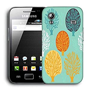 Snoogg Trees In Blue Printed Protective Phone Back Case Cover For Samsung Galaxy ACE S5830