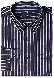 Basics Men's Formal Shirt (8907054714186_15BSH32440_L_Navy)