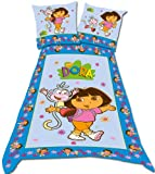 Dora The Explorer Flower Double Duvet Set Panel Print