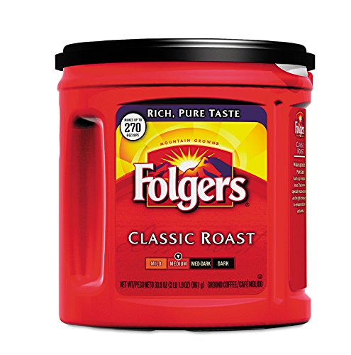 Folgers Classic Roast Ground Coffee Canisters 33.9 oz.