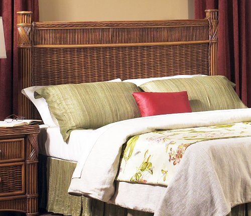 Wicker Paradise GQN154 Barbados Rattan Headboard, Full