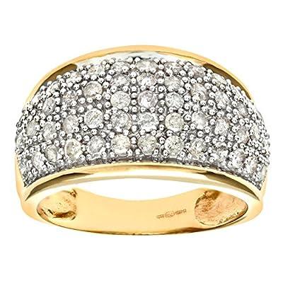 Ariel 9ct Yellow Gold Diamond Multi Row Eternity Ring