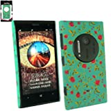 Emartbuy® Nokia Lumia 1020 Rose Garden Clip On Protection Case/Cover/Skin