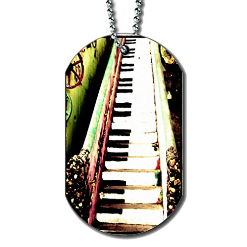 Piano Stairs - Dog Tag Necklace rosenfelt d dog tags